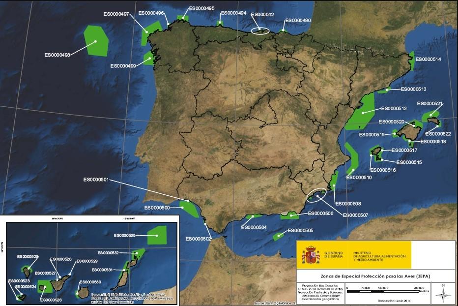 Espaa a marca un hito en la conservacia n del mar seo for Ministerio del interior ubicacion mapa