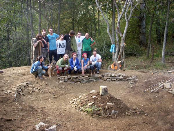 Grupo de voluntarios realizan este otoño trabajos en la reserva orgnitológica. ©SEO/BirdLife