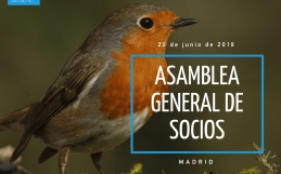 Convocatoria Asamblea General Ordinaria de SEO/BirdLife. Junio de 2019